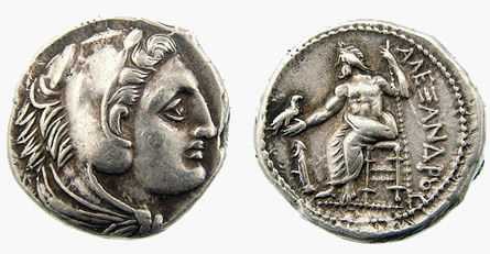 Alexander lifetime Coins of Alexander the Great